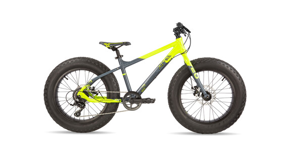 s'cool XTfat 20 9-S neonyellow/black matt